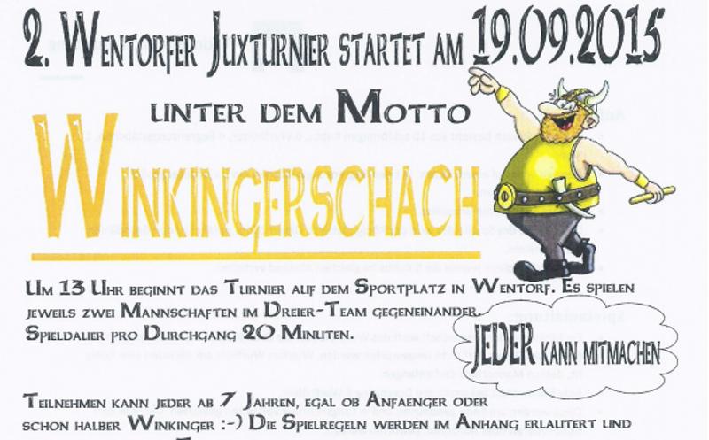 2. Wentorfer Juxturnier – Wikingerschach